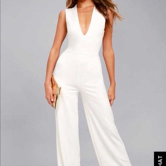 695be0789cb Lulu s wide leg white jumpsuit